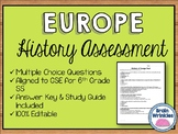 History of Europe Assessment (Editable)