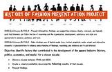 History of Fashion Presentation Project!