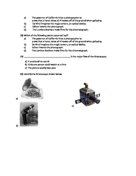 History of Film Quiz