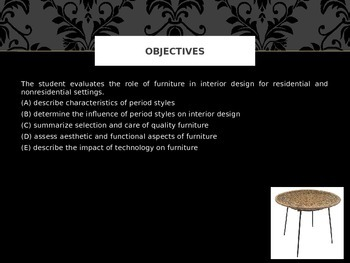 History of Fine Furnishings_Period Styles