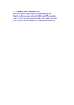 History of Flight Webquest