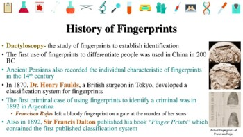 History Of Forensic Science Powerpoint Notes Tpt