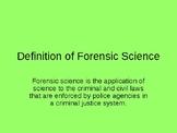 History of Forensics