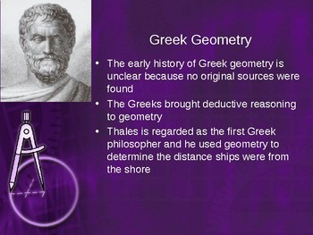 History of Geometry PowerPoint - Great First Day Activity