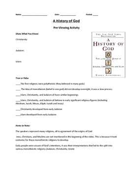 History of God Documentary Study Guide
