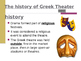 History of Greek Theatre - Powerpoint and Notes
