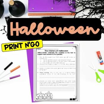 History of Halloween Comprehension