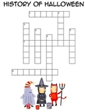 History of Halloween - Cross Word Puzzle