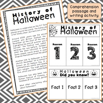 History of Halloween - Interactive notebook - Free Download