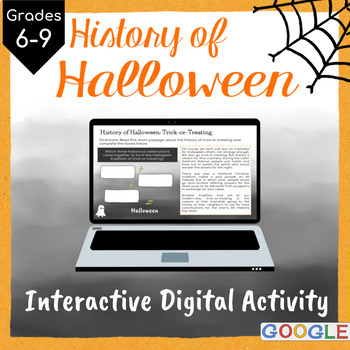 History of Halloween: Interactive Google Slides Activity by Plans ...