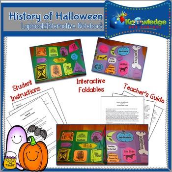 History of Halloween Lapbook / Interactive Notebook