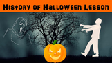 History of Halloween No Prep Lesson with Power Point, Worksheet, and Word Search