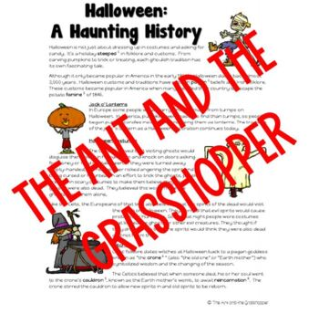 History of Halloween Nonfiction Passage and Question Set - Upper Grades