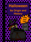 History of Halloween Nonfiction Passage and Question Set -