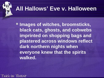 History of Halloween Power Point