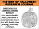 Halloween History Research Journal