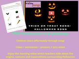FREE Halloween/Samhain Activity: LEARNING SONG VIDEO + wor
