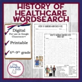 History of Healthcare Wordsearch