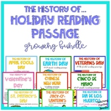 History of Holiday's Reading Passage Bundle