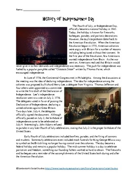History of Independence Day - Fourth of July