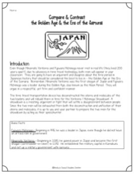 Compare & Contrast the Golden Age and the Samurai Era - Group Project of Japan