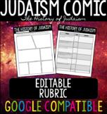 History of Judaism Comic EDITABLE
