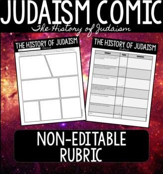 History of Judaism Comic NON-EDITABLE