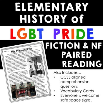 History of LGBT Pride Elementary Paired Reading Comprehension