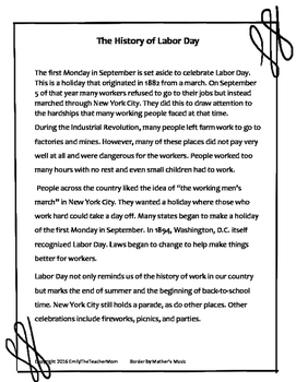 History of Labor Day for Young Readers