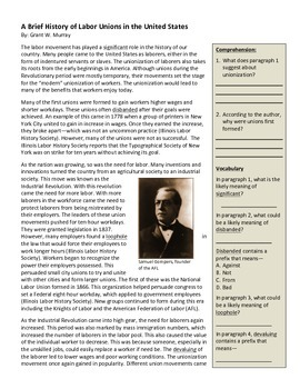 History of Labor Unions