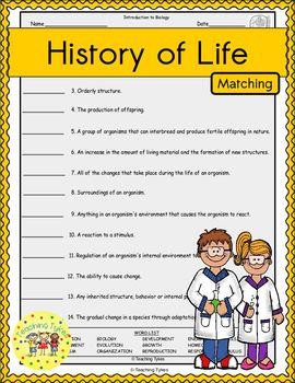 History of Life Matching