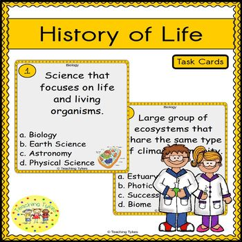 History of Life Task Cards