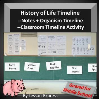 History of Life Timeline Science Lesson -- Life Science