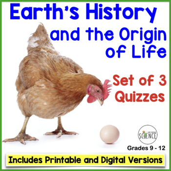 History of Life on Earth / Origin of Life Set of 3 Quizzes