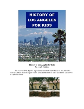 History of Los Angeles for Kids