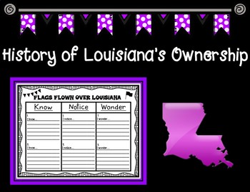 History of Louisiana's Ownership Timeline and Graphic Organizer