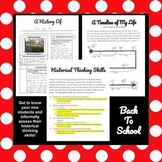 History of Me - Historical Thinking - Distance Learning Back to School Activity