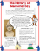 History of Memorial Day Reading, Task Cards, and Color By Number Answer Sheet