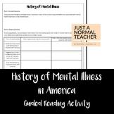 History of Mental Heath in America Reading Activity