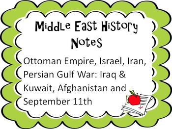 History of Middle East Notes