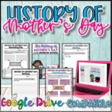 History of Mother's Day {Digital AND Paper} Distance Learning