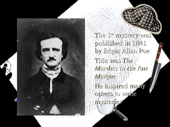History of Mystery PowerPoint including TV detectives, Poe, & Holmes