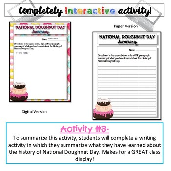 History of National Doughnut Day {Digital AND Paper}