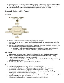 History of New France Study Guide (Canadian)