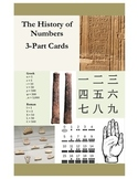 History of Numbers 3-Part Cards