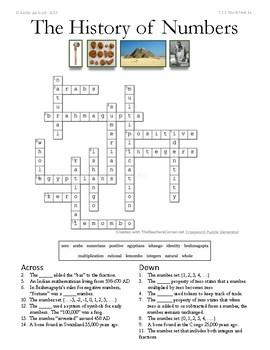 History of Numbers Worksheet Bundle