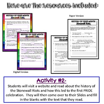 History of PRIDE Month {Digital AND Paper}