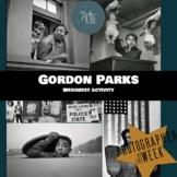 History of Photography: Gordon Parks webquest (interactive)