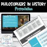 History of Political Thought PowerPoint & Guided Notes Editable