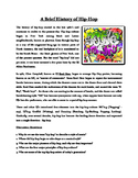 History of Popular Music Worksheets